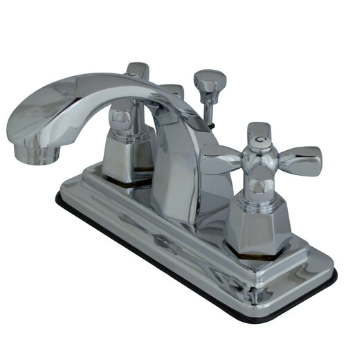 Kingston Brass KS4641HX 4 in. Centerset Bathroom Faucet, Polished Chrome