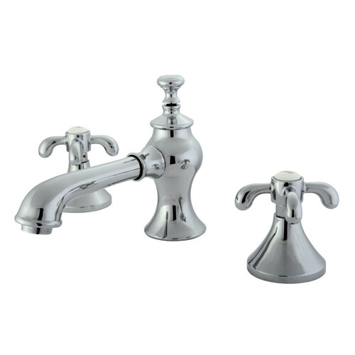 Kingston Brass KC7061TX 8 in. Widespread Bathroom Faucet, Polished Chrome