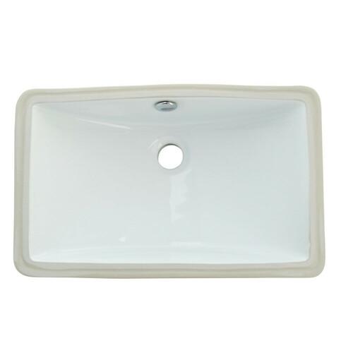 Kingston Brass LB18127 Courtyard Undermount Bathroom Sink, White