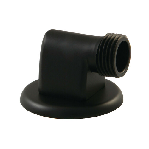 Kingston Brass K173A0 Showerscape Wall Mount Supply Elbow, Matte Black