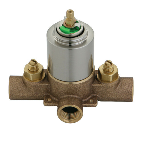 Kingston Brass KB658V Pressure Balanced Rough-In Tub and Shower Valve with Stops, Brushed Nickel