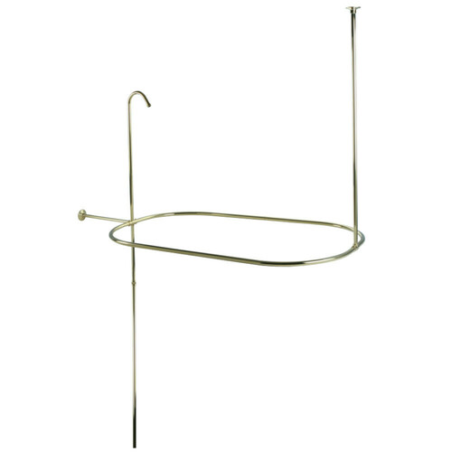 Kingston Brass CC10402 Vintage Oval Shower Riser With Enclosure, Polished Brass