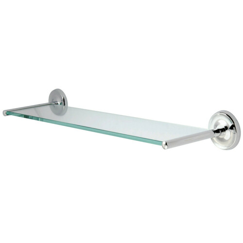 Kingston Brass BA319C Classic Glass Shelf, Polished Chrome