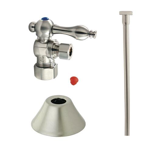 Kingston Brass CC53308TKF20 Traditional Plumbing Toilet Trim Kit, Brushed Nickel