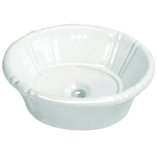 Kingston Brass EV18157 Vintage Vitreous China Single Bowl Vessel Sink, White