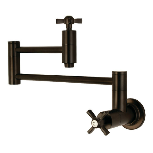 Kingston Brass KS8105ZX Millennium Wall Mount Pot Filler Kitchen Faucet, Oil Rubbed Bronze