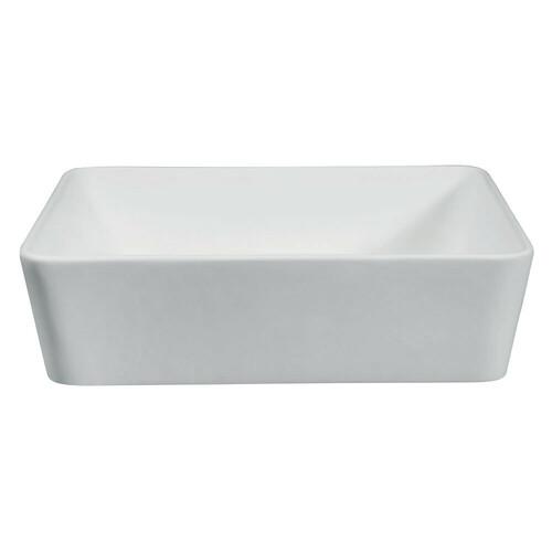 Kingston Brass EVA18155 Solid Surface Matte Stone Single-Bowl Vessel Bathroom Sink, Matte White