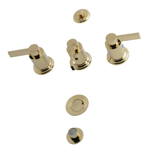 Kingston Brass KB6322NDL Bidet Faucet, Polished Brass