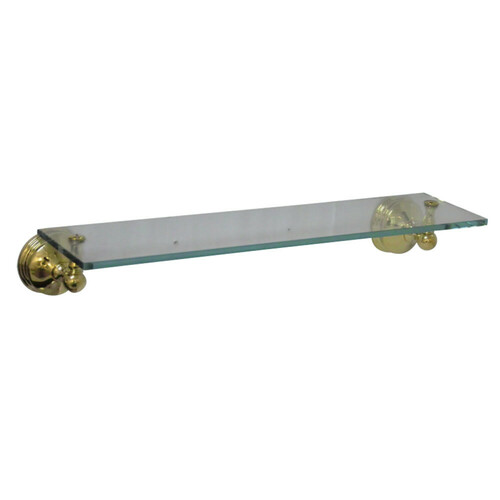 Kingston Brass BA1169PB Vintage Cosmetic Glass Shelf, Polished Brass