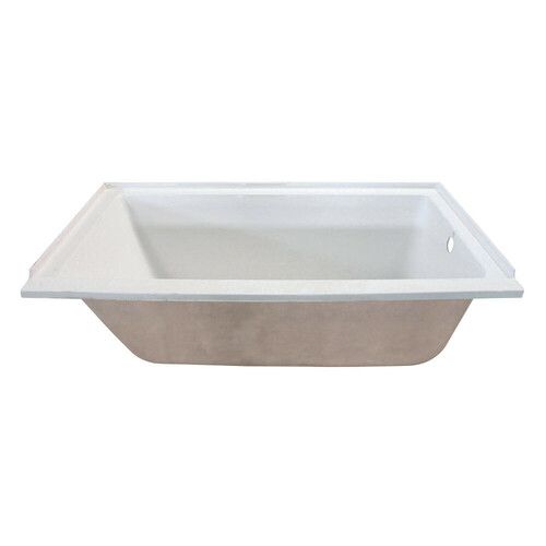 Kingston Brass VTPN603020R 60-Inch Acrylic Rectangular Drop-In Tub with Right Hand Drain Hole, White