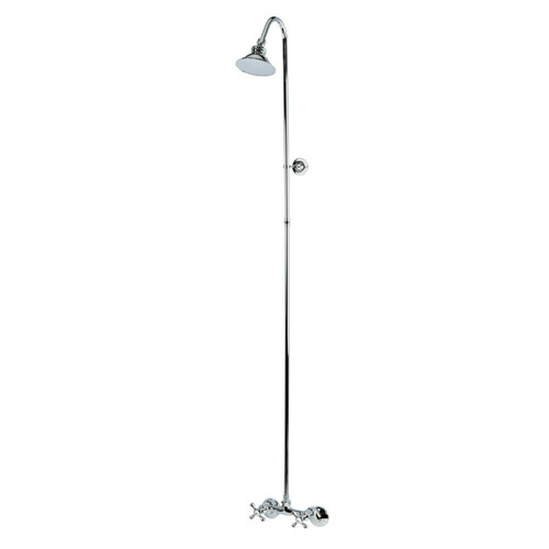 Kingston Brass CCK2131 Vintage Shower Combination, Polished Chrome