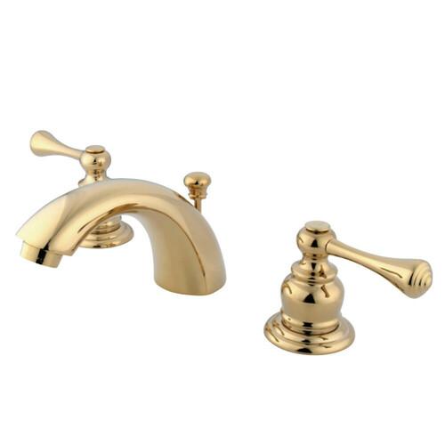 Kingston Brass KB942BL Mini-Widespread Bathroom Faucet, Polished Brass