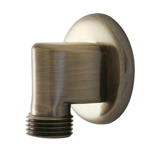 Kingston Brass K173A3 Showerscape Wall Mount Supply Elbow, Antique Brass