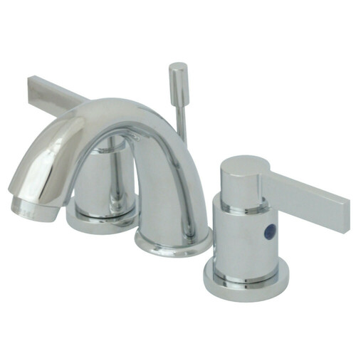 Kingston Brass KB8911NDL NuvoFusion Widespread Bathroom Faucet, Polished Chrome