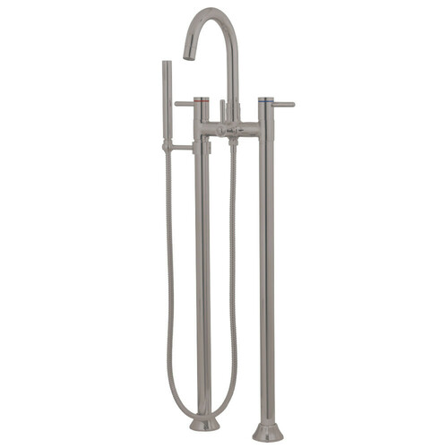 Kingston Brass KS8358DL Concord Freestanding Tub Faucet with Hand Shower, Brushed Nickel