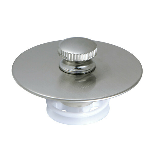 Kingston Brass DTL5304A8 Quick Cover-Up Tub Stopper, Brushed Nickel
