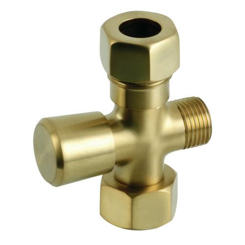 Kingston Brass ABT1060-7 Vintage Shower Diverter, Brushed Brass