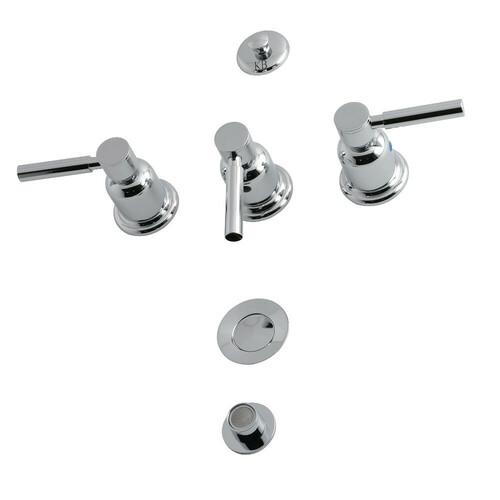 Kingston Brass KB6321DL 3-Handle Bidet Faucet, Polished Chrome