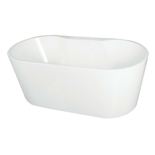 Kingston Brass VT7DE552823 55-Inch Acrylic Freestanding Tub with Deck for Faucet Installation, White