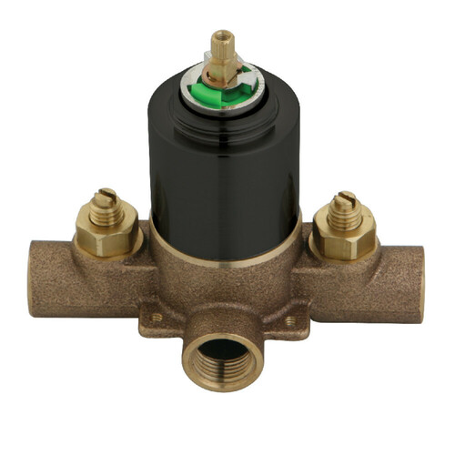 Kingston Brass KB655V Pressure Balanced Rough-In Tub and Shower Valve with Stops, Oil Rubbed Bronze