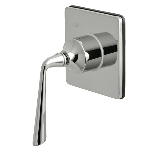 Kingston Brass KS3041ZL Three-Way Diverter Valve with Single-Handle and Square Plate, Polished Chrome