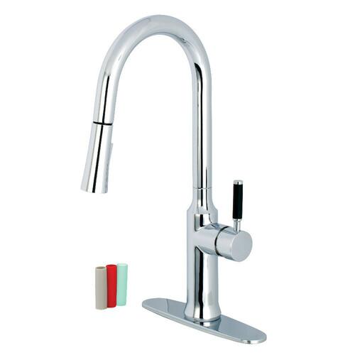 Kingston Brass LS2721DKL Single-Handle Pull-Down Kitchen Faucet, Polished Chrome