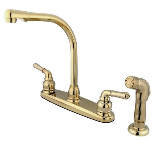 Kingston Brass GKB752SP Magellan Centerset Kitchen Faucet, Polished Brass