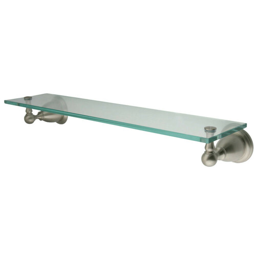 Kingston Brass BA1759SN Heritage Cosmetic Glass Shelf, Brushed Nickel