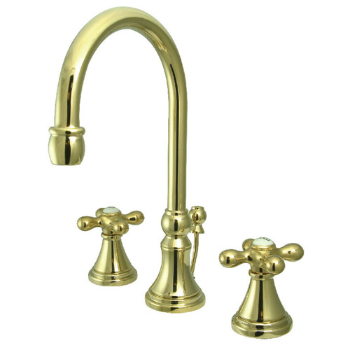 Kingston Brass KS2982AX 8 in. Widespread Bathroom Faucet, Polished Brass