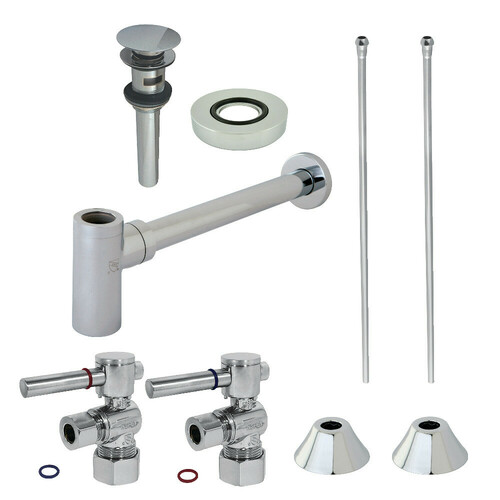 Kingston Brass CC53301DLVOKB30 Modern Plumbing Sink Trim Kit with Bottle Trap and Overflow Drain, Polished Chrome