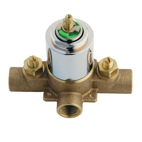 Kingston Brass KB651V Pressure Balanced Rough-In Tub and Shower Valve with Stops, Polished Chrome