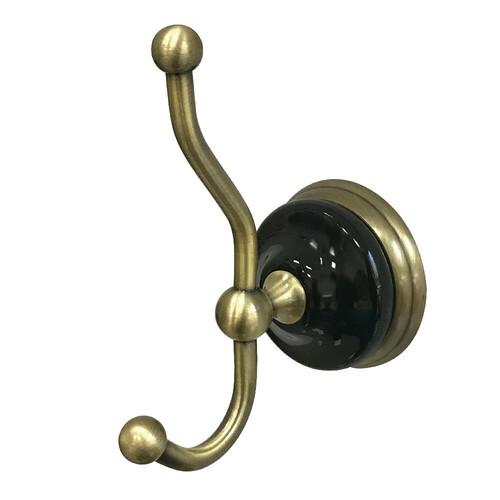 Kingston Brass BA9117AB Water Onyx Robe Hook, Antique Brass