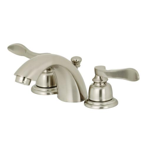 Kingston Brass KB958NFL Mini-Widespread Bathroom Faucet, Brushed Nickel