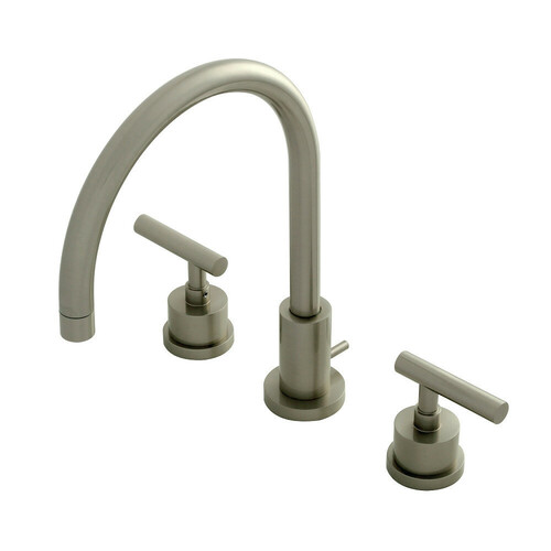 Kingston Brass KS8928CML 8 in. Widespread Bathroom Faucet, Brushed Nickel