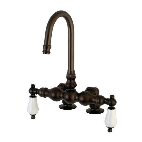 Kingston Brass AE93T5 Auqa Vintage 3-3/8-Inch Deck Mount Tub Faucet, Oil Rubbed Bronze