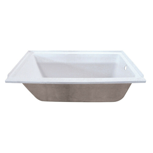 Kingston Brass XVTPN603220R 60-Inch Acrylic Rectangular Drop-In Tub with Right Hand Drain Hole, White