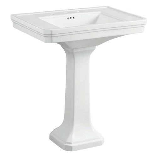 Kingston Brass VPB4308 Porcelain Pedestal Sink, White
