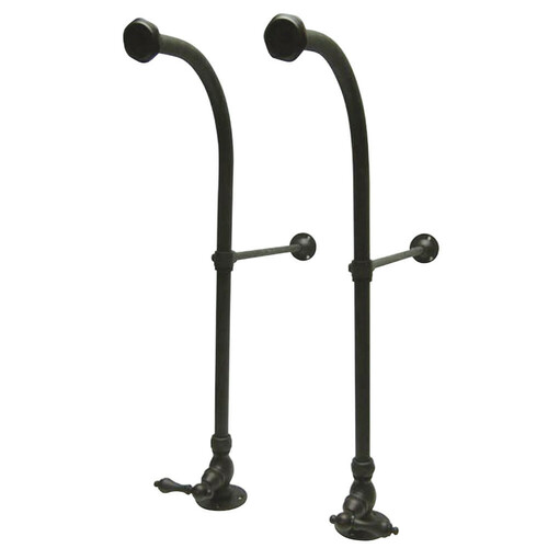 Kingston Brass CC455ML Rigid Freestand Supplies with Stops, Oil Rubbed Bronze