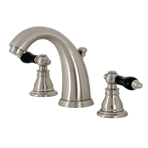 Kingston Brass KB988AKL Duchess Widespread Bathroom Faucet with Plastic Pop-Up, Brushed Nickel
