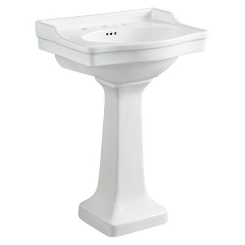 Kingston Brass VPB3248 Small Porcelain Pedestal Sink, White