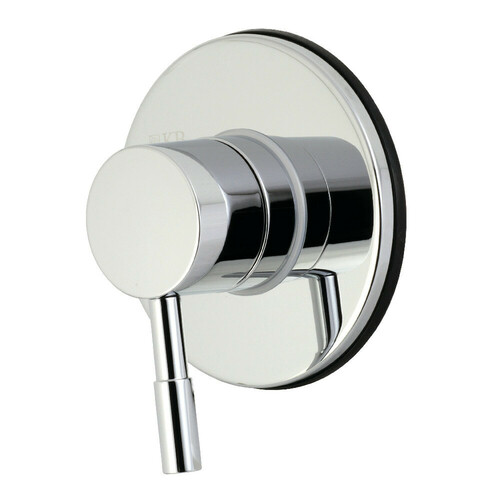 Kingston Brass KS3031DL Concord Single-Handle Three-Way Diverter Valve with Trim Kit, Polished Chrome