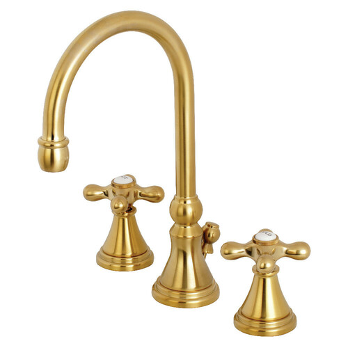 Kingston Brass KS2987AX 8 in. Widespread Bathroom Faucet, Brushed Brass