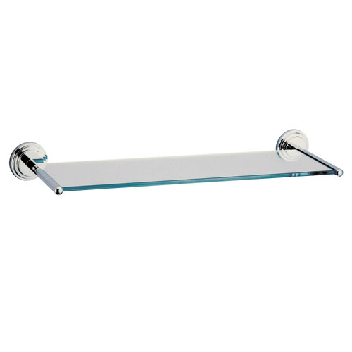 Kingston Brass BA2719C Milano Cosmetic Glass Shelf, Polished Chrome