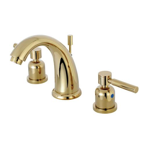 Kingston Brass KB8982DL 8 in. Widespread Bathroom Faucet, Polished Brass