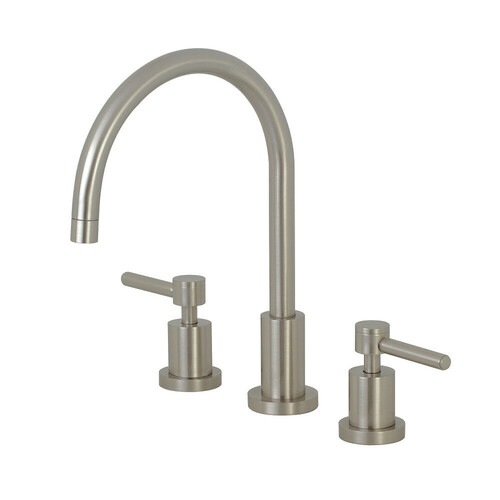 Kingston Brass KS8728DLLS Widespread Kitchen Faucet, Brushed Nickel