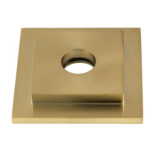 Kingston Brass FLSQUARE7 Claremont Heavy Duty Square Solid Cast Brass Shower Flange, Brushed Brass