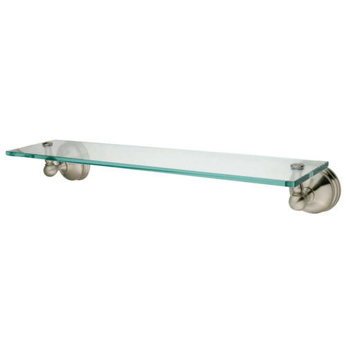 Kingston Brass BA1169SN Vintage Cosmetic Glass Shelf, Brushed Nickel