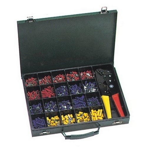 Morris 10818 500 Piece Terminal Kit with Controlled Cycle Crimp Tool