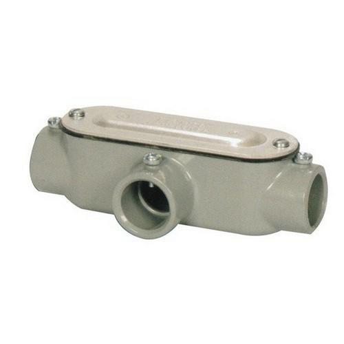 Morris 14170 Aluminum EMT Set Screw Conduit Bodies T Type with Cover & Gasket 1/2