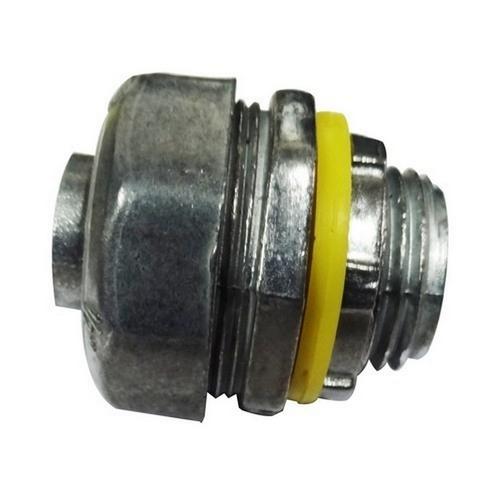 Morris 15240 Liquid Tight Connectors - Straight - Zinc Die Cast 3/8